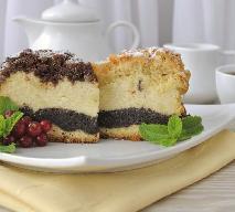 Ciasto serowo-makowe - dwa ciasta w jednym
