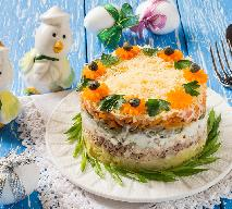 Sałatka wielowarstwowa z tuńczykiem i jajkiem - na Wielkanoc i nie tylko