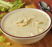 Zupa krem z selera z szałwią: przepis