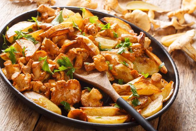 Rewelacyjne ziemniaki z kurkami