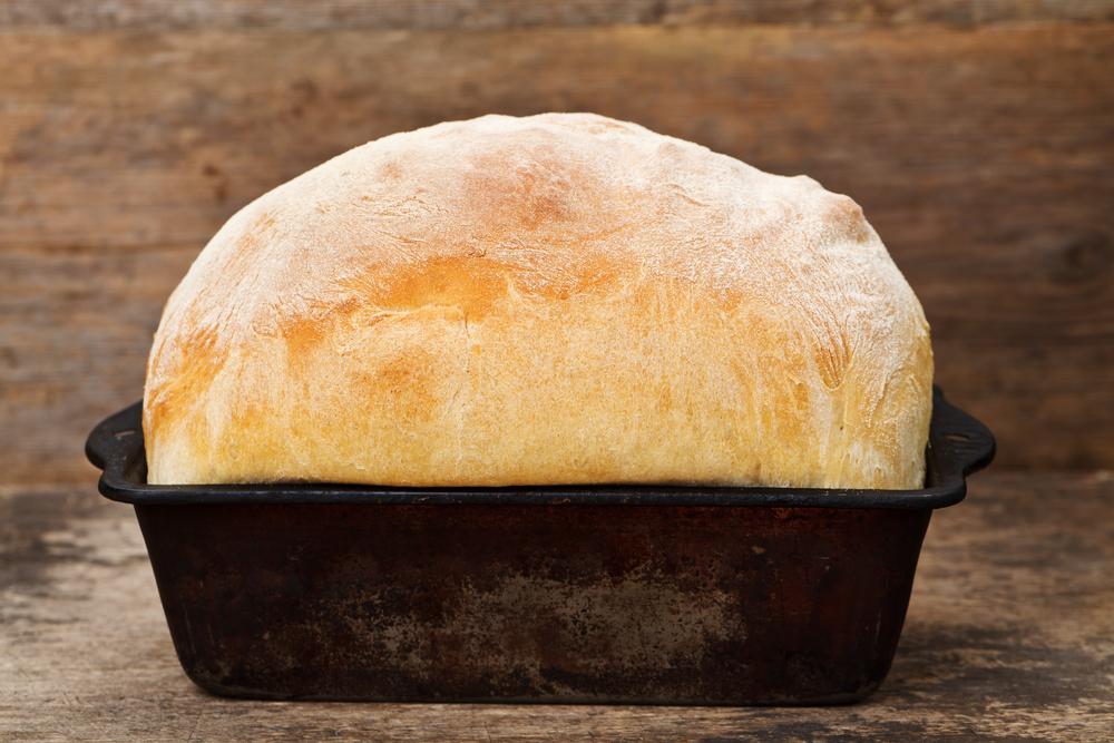 Chleb pszenny na proszku do pieczenia